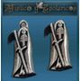 San La Muerte Dije En Plata 925 1 Cm Modelo 09