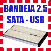 Bandeja Externo Carry Disk Case Cofre 2.5 Sata Usb 2.0