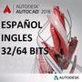 Autocad 2016 Español - Ingles- 32 64 Bits