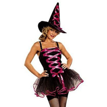 Disfraz Bruja Con Sombrero Mujer Bruja Adultos