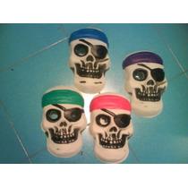 Disfraz Careta Plastica Calavera Pirata Halloween Adorno