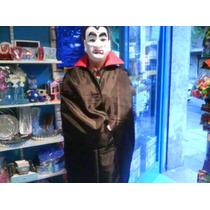 Disfraz Capa Dracula Negra Y Roja Vampiro Adulto Halloween