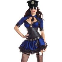 Disfraz Policia Vestido Con Sombrero Mujer Policia Adultos