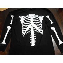 Conjunto/disfraz De Esqueleto.espectacular,miralo! Halloween