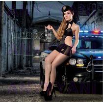 Disfraz Nuevo Modelo De Policia C/medias De Rega Anyyyani