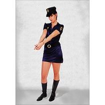 Disfraces Adultos Cotillon Colegiala Mujer Policia Mucamita