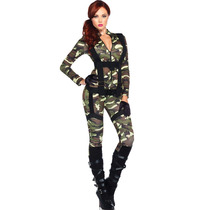 Disfraz Catsuit Militar Super Sexy Leg Avenue Disfraz Adulto