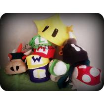 Gorros De Mario Bros:estrella Y Hongo Verde, Rojo (mushroom)