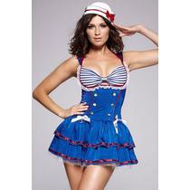Disfraz Marinerita Vestido Elastizad Disfraces Mujer Adultos