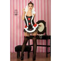 Combo Sexy!! Disfraz Premium Reina Corazones + Medias