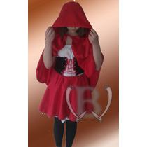 Disfraz Cosplay Caperucita Roja P/adulto Exc Cal Vestuario
