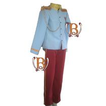 Disfraz Principe Azul Cosplay Vestuario Epoca Premium Niño