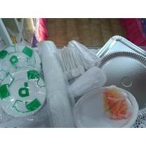 Descartables Platos, Vasos Para 50 Personas Economico