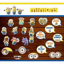 20 Props Photo Booth Minions - Cumpleaños Infantil Souvenirs