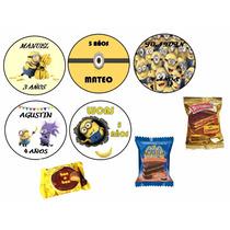 Etiquetas Personalizadas Candy Bar Golosinas Minions Y Mas