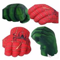 Puños De Hulk Y Spiderman