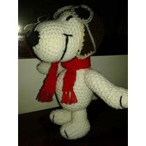 Snoopy Aviador,crochet, Amigurumi. Gorro Desmontable!!
