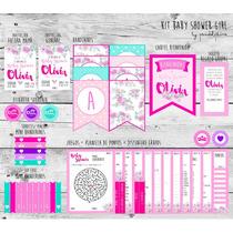 Baby Shower Nena. Deco + Juegos + Props. Kit Imprimible!