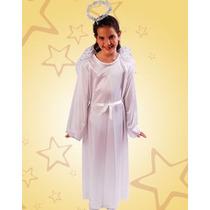 Disfraz De Angel Tunica Incluye Alas Y Aureola
