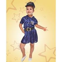 Disfraz De Policia Niña Talles Del 2 Al 12