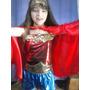 Disfraz De Mujer Maravilla Short O Pollera Para Nenas