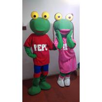 Muñeco Cabezon Disfraz Sapo Pepe O Pepa