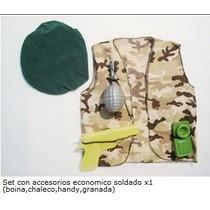Disfraz Set De Soldado Camuflado Con Accesorios