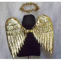 Disfraz Niños Angel Aureola Alas Plateado Dorado Brovillnet