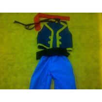 Disfraz Jake Pirata Incluye Chaleco Pantalon Vincha Y Faja
