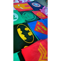 Capas Friselina Super Heroes Cumples Souvenirs