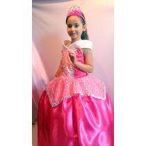 Vestido Disfraz Aurora Bella Durmiente Princesas Disney