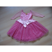Vestido Disfraz Nena Princesa Aurora Bella Durmiente Disney5