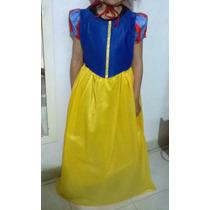 Disfraz Blancanieves Nuevo Talle8 Capa Cuello Enagua +moño