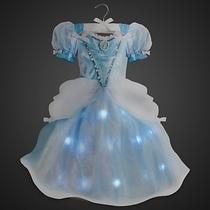 Disfraz Vestido Cenicienta Deluxe Con Luz Disney Store Usa