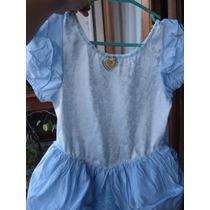 Vestido Disfraz Nena Princesa Cenicienta Disney Importado 8