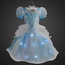 Vestido Disfraz Cenicienta Con Luz Original Disney Store