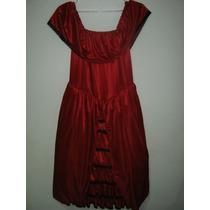 Disfraz De Dama Antigua Rojo Para Niña