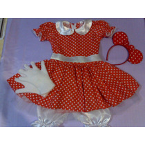 Disfraz Vestido De Minnie,con Accesorios Muy Completo!!!