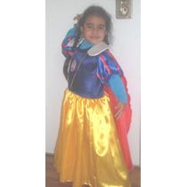 Disfraz Vestido Blancanieves + Corona De Regalo