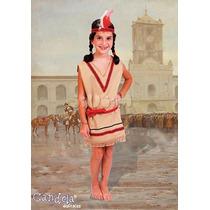 Disfraz Patrio Para Nenas, India Completo Con Pluma! Jiujim