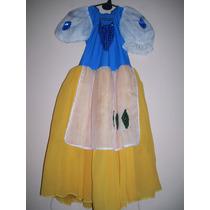 Disfraz De Princesa Blancanieves Talle 4/6 Años Envio Gratis