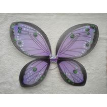 Alas De Mariposa De Tul Grandes Nuevas 55x45 Cm Violeta
