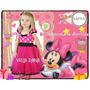 Vestido Disfraz Minnie Mouse Mas Chaqueta Y Vincha Con Oreja