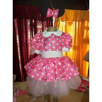 Disfraz Vestido De Minnie Color Rosa O Rojo