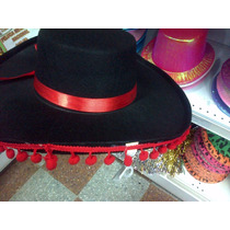 Disfraz De Español Gorro Con Pompones Paño Flamenco