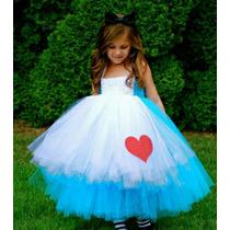Disfraz De Alicia En El País De Las Maravillas. Hermoso. Niñ