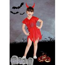 Disfraz Halloween Diablita Completo! Nena Variedad! Jiujim