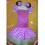 Disfraz Vestido Minnie Vincha Con Orejas Y Moño