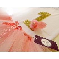Disfraz Princesas Conjunto Body + Tutu Princesas + Corona