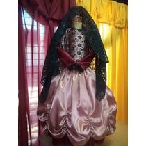 Vestido Disfraz Traje De Dama Antigua (patrios)